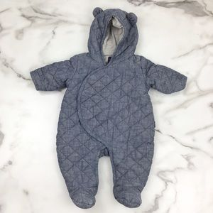 Baby Gap Chambray Blue One Piece Outerwear